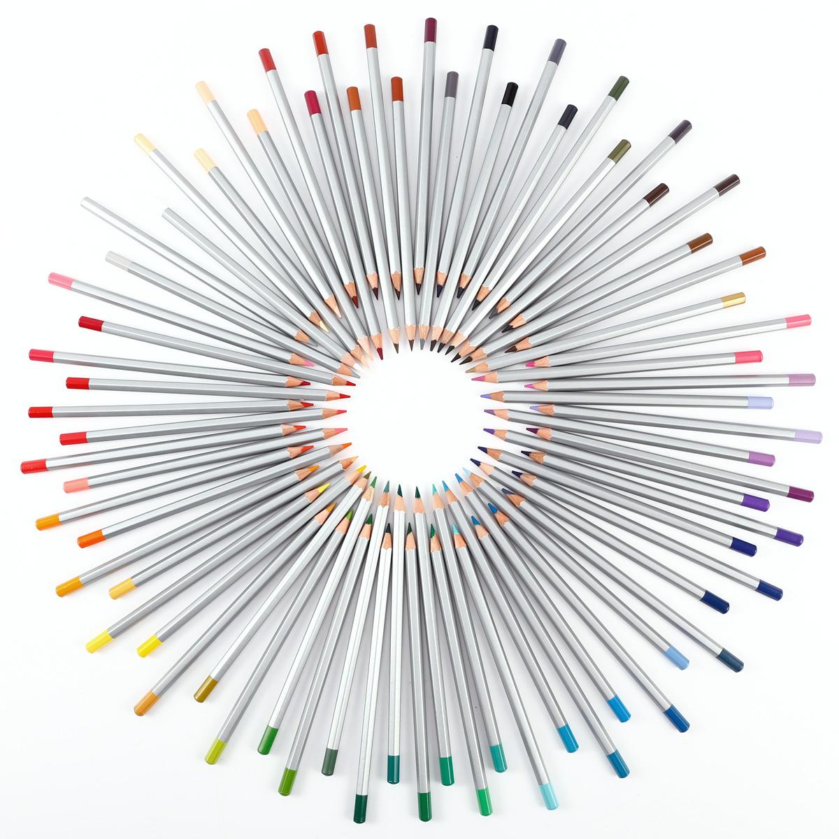 72x crayon de couleur 174mm Matériel de dessin pour Peinture de