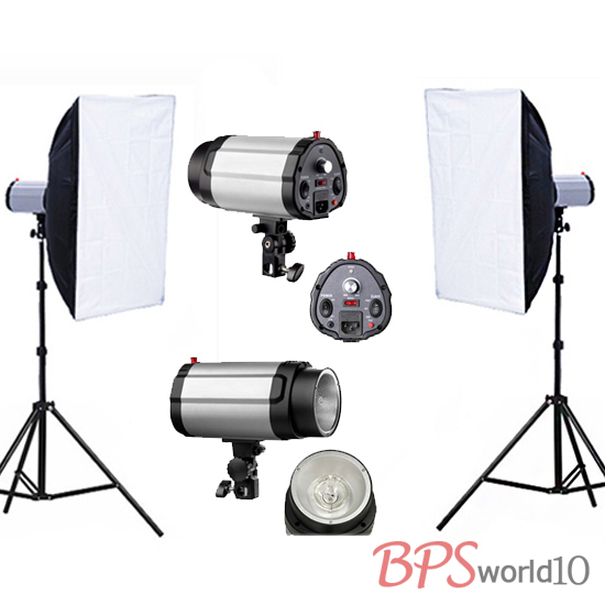 Flash 250W Studio Pro Kit éclairage Photo stroboscopique