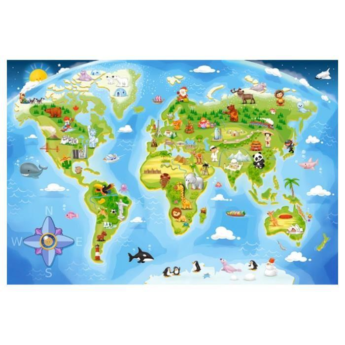 Puzzle Maxi 40 pièces : Carte du monde Achat / Vente puzzle