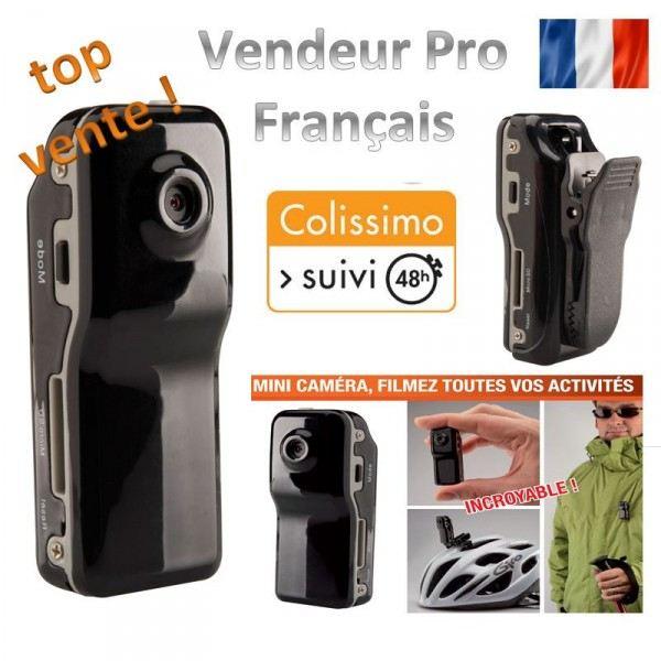Mini camera DV MD80, sport, espion + accessoires Cette mini camera
