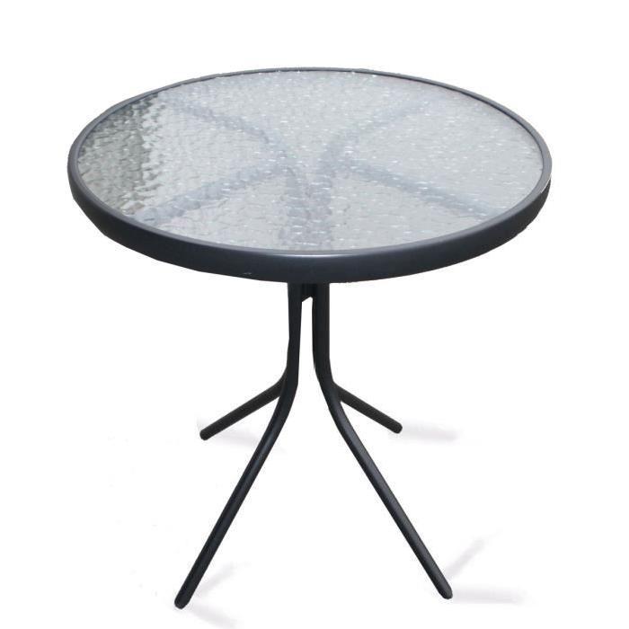 Achat / Vente table de jardin Table ronde en acier platea