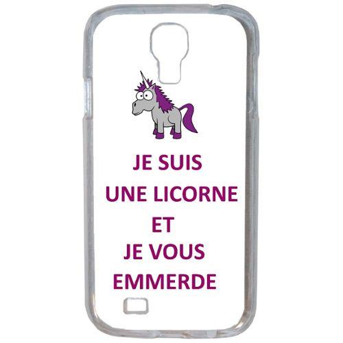Housse Coque Originale Humour Licorne Je T Emmerde Samsung Galaxy S4