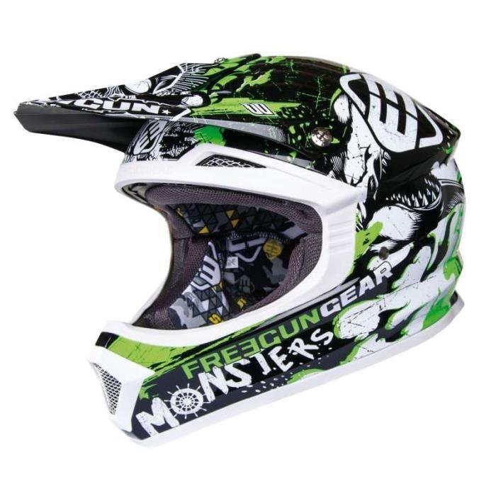 Casque moto cross enfant Freegun Vert Achat / Vente casque moto