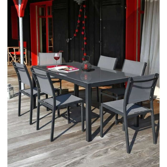 Table De Jardin Aluminium. Perfect Table De Jardin Ronde Pas Cher ...