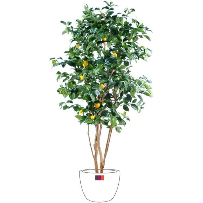 ARTIFICIELLE SÉCHÉE Citronnier 150cm arbre fruitier artificiel