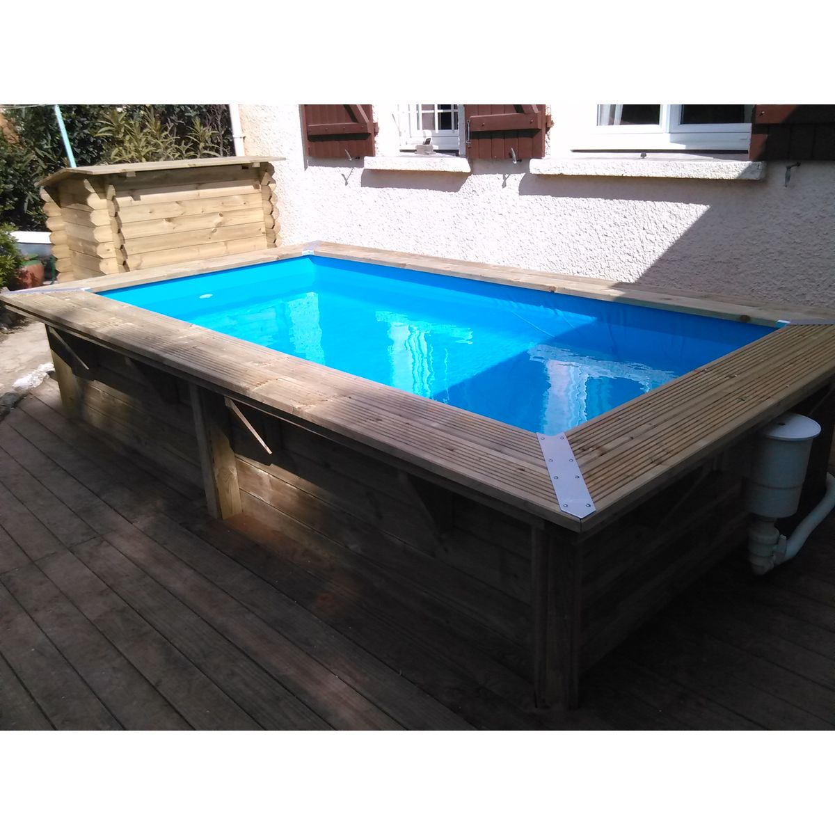 Piscine bois topiwall for Piscine autoportee bois rectangulaire
