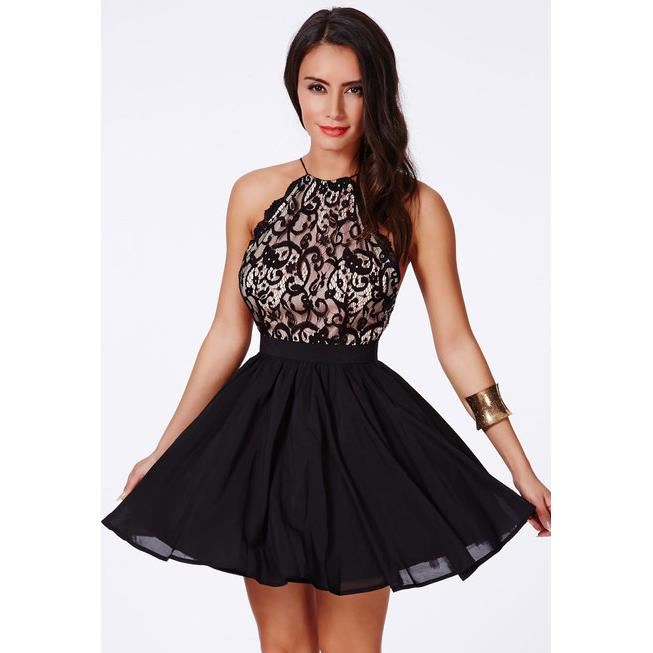 Robe patineuse dentelle et voile TAILLE L Rose Achat / Vente robe