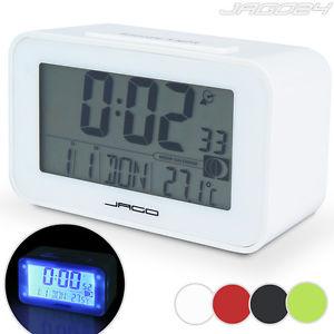 Réveil digital horloge numérique LED alarme thermomètre calendrier