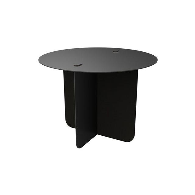 Table basse démontable ronde verso noir Entreautre