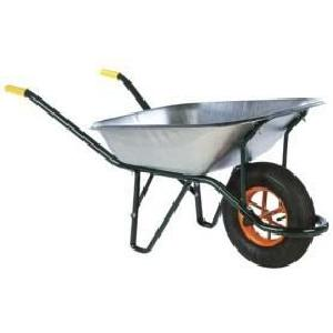 BROUETTE Brouette galvanisée roue gonflable 90 L
