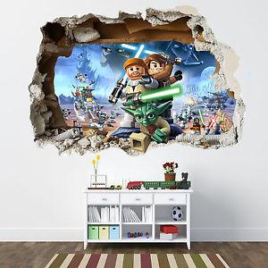 Lego Star Wars Autocollant mural brisée Chambre Garçons