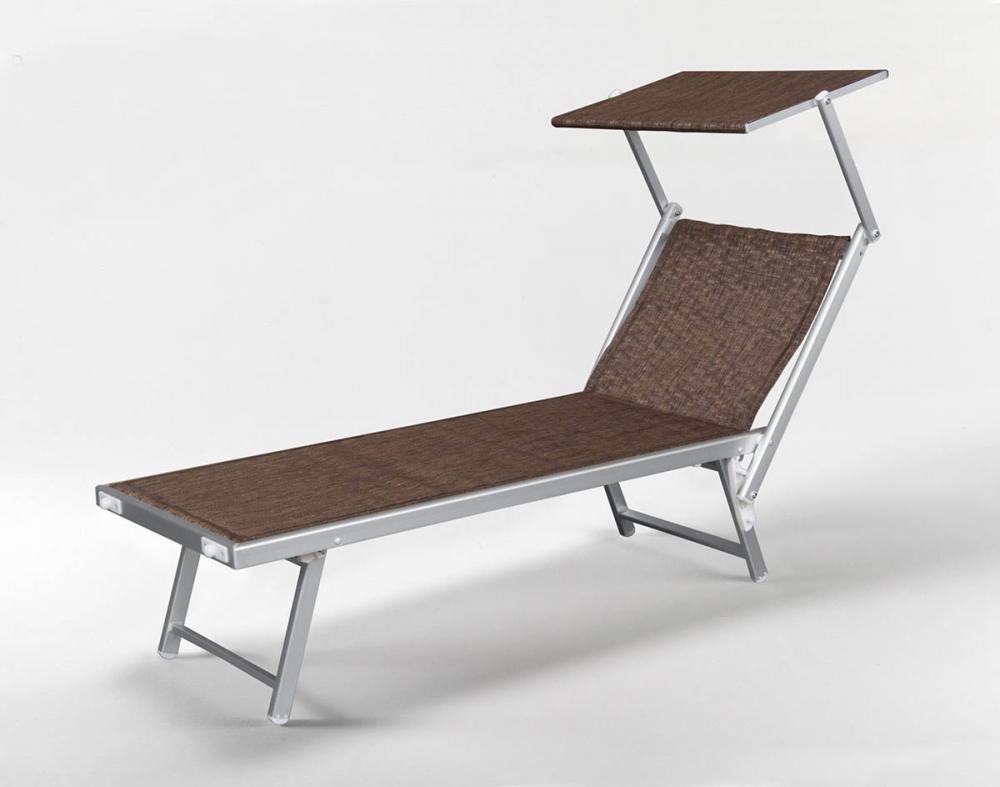 Bain de Soleil Lit de Plage Transat Piscine Aluminium Jardin Chaise