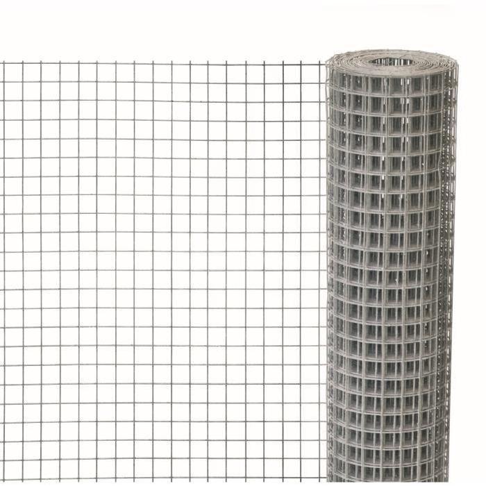 Grillage à poule et lapins en maille carré galvanisée 13x13mm rlx 0