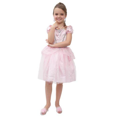 Lgri Déguisement Princesse rose pale + bijoux : 3/5 ans pas cher