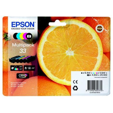 EPSON MULTI PACK 5 CARTOUCHES ORANGE EPSON pas cher à prix