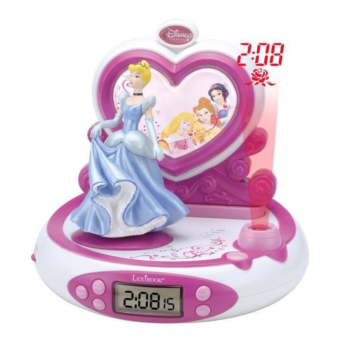 Lexibook Radio Réveil Projecteur Disney Princesses Large écran