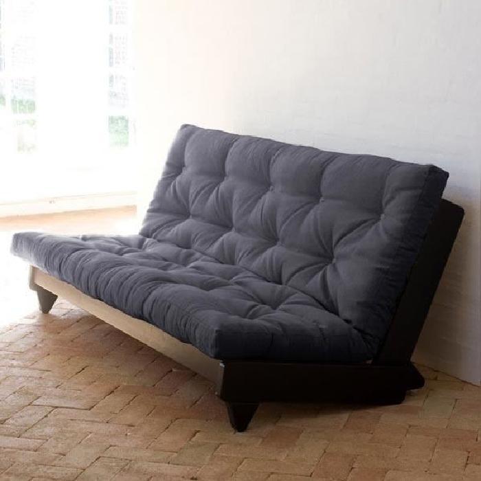 Convertible Fresh WengÈ futon gris foncé Achat / Vente canapé