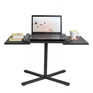 Table modulable ordinateur portable/table d'appoint/table basse (noir