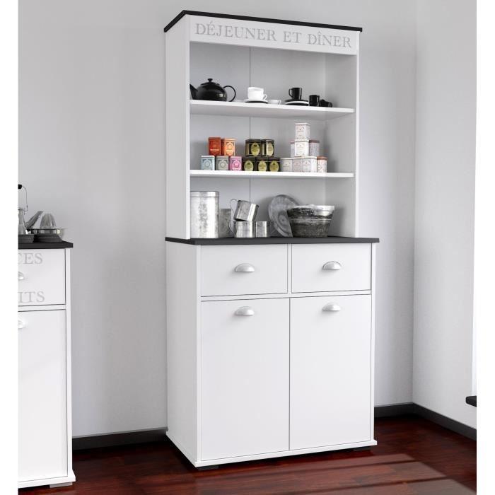 Buffet de cuisine 80 cm Blanc Achat / Vente buffet de cuisine
