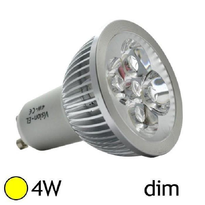 Spot Led 4W (40W) GU10 Dimmable Blanc chaud Achat / Vente Spot Led