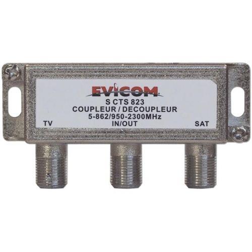 Evicom coupleur tv/satellite version intérieure, blister pas cher