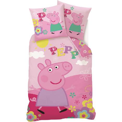 Parure housse de couette coton PEPPA PIG PEPPA PIG pas cher à prix