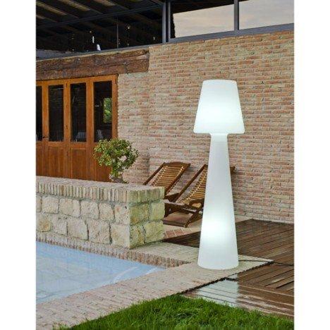 Lampadaire extérieur Lola 165 cm E27 blanc NEWGARDEN |