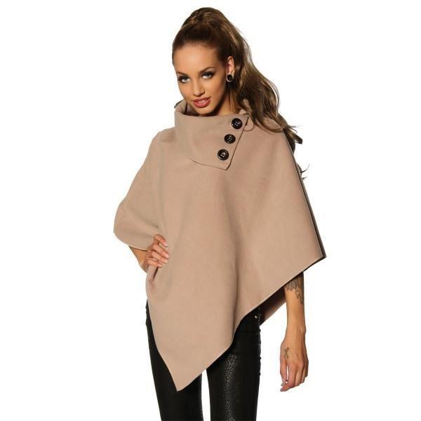 Poncho femme laine beige   Espaceflirey b740d3a0f43