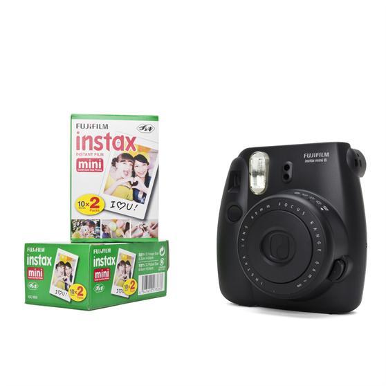 avec film 40 images noir Fujifilm appareil photo instantané