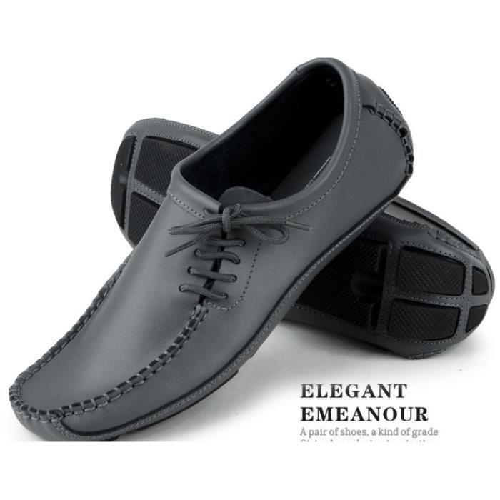 Chaussures homme mocassin gris Gris TU Achat / Vente mocassin