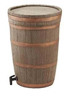 Ward GN714 Tonneau récupérateur d'eau Imitation chêne 120 l
