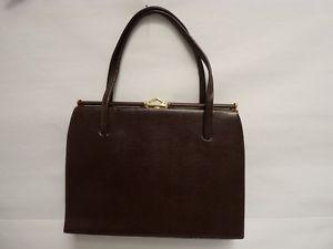 Ancien Sac à main Cuir accessoire de mode vintage (18141)