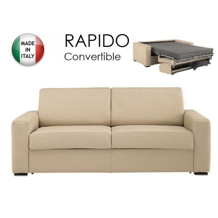 Canapé convertible RAPIDO 140cm DREAMER CUIR VA? Achat / Vente