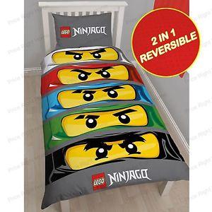 LEGO NINJAGO YEUX SET HOUSSE DE COUETTE SIMPLE NEUF COUETTE