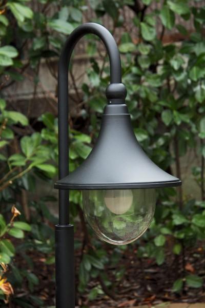 Lampadaire extérieur Noir Lampe sur pied Éclairage de jardin Lampe