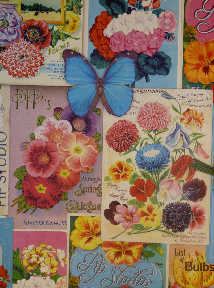 Pip studio peint intissé / Panneau de 341083 Jardin de Pip 280 x 93