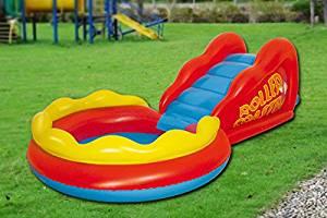 Piscine, jeux pour enfants piscine pour enfants avec toboggans