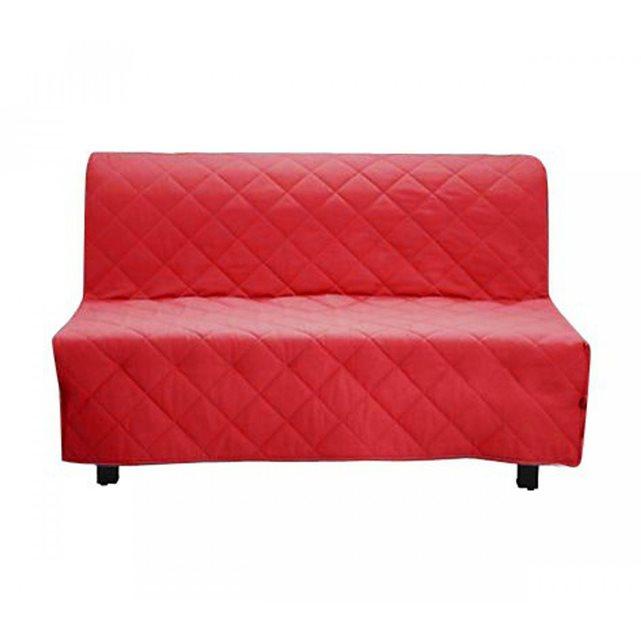 SOMEO Housse de Clic Clac Matelassée Rouge 140×190