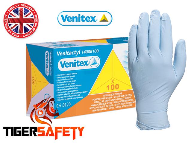 Delta plus venitex VENITACTYL bleu poudre libre gants