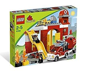 Lego Duplo Legoville 6168 Jouet d'Eveil La Caserne des Pompiers