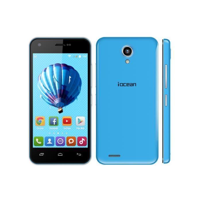 X1 BLEU Android 4.4 Mobile Phone 1GB/8GB MTK6582 Quad Core 8.0MP WDCMA