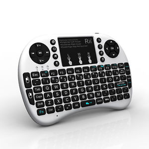 white smart TV Keyboard with touchpad for Android TV Box PC NO BACKLIT