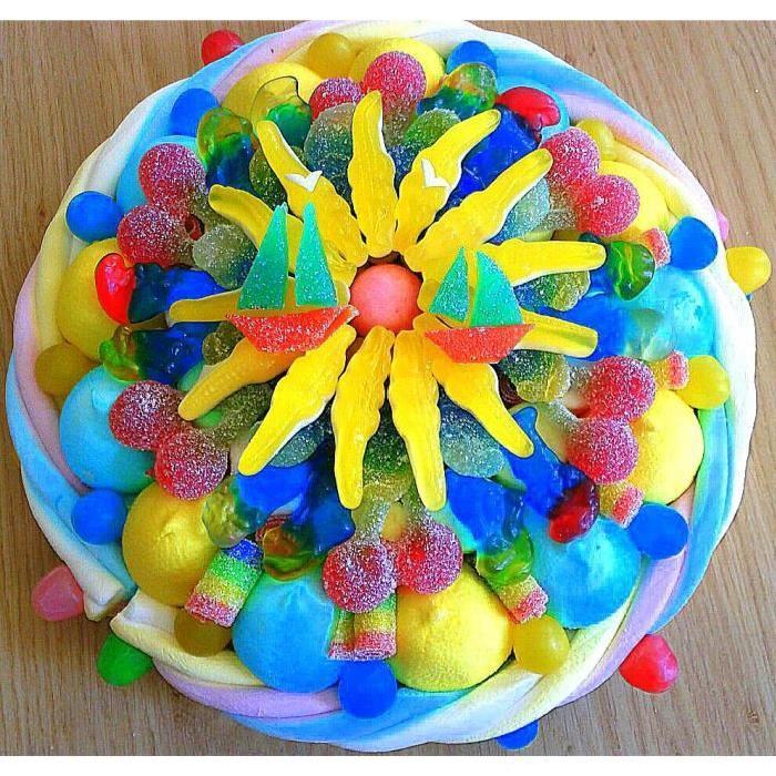 Gateau de bonbons «soleil sucré» Achat / Vente confiserie de sucre