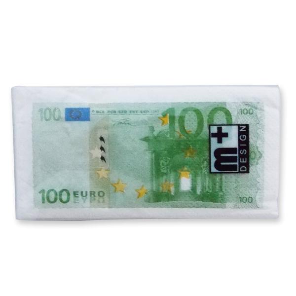 Mouchoirs en papiers impression billets 100 euros