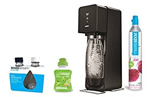 Sodastream SOURCE Machine à soda noire + pack 2 bouteilles Fuse 0.5L