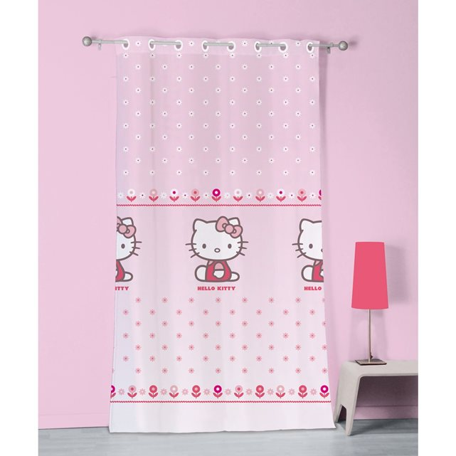 Voilage à oeillets 140×240 cm hello kitty 100% polyester HELLO KITTY