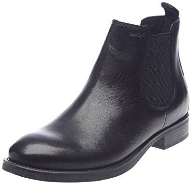 Geox Uomo Stefan, Boots homme Noir, 45 EU: Chaussures et