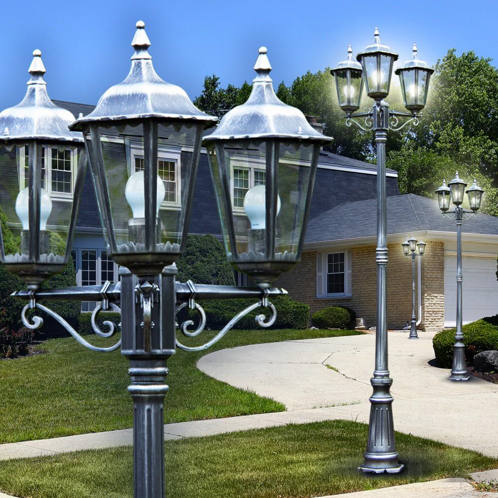 Lampadaire Luminaire de jardin Réverbère Lampe d'extérieur Lampe