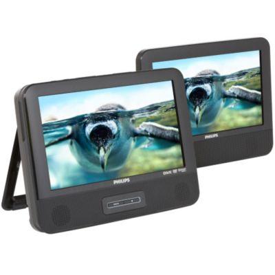 Lecteur DVD portable double écran Philips PD9122 double