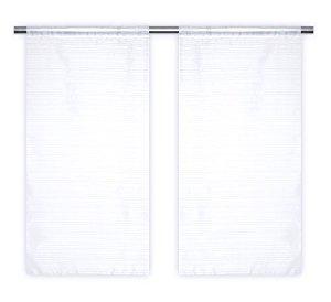 Paire de Voilage Vitrage 45×90 cm Blanc: Cuisine & Maison